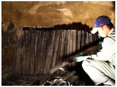 埋炭用高温焼成竹炭 粒炭 300L